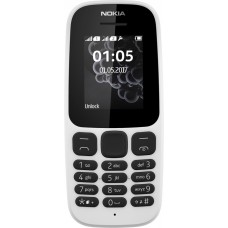 Телефон Nokia 105 Dual Sim New White